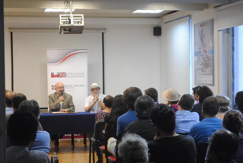 Héctor Velis-Meza presentó su nuevo libro en el Instituto Chileno Británico de Cultura