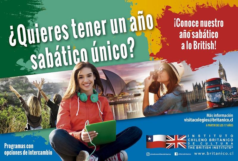 Instituto Chileno Británico lanza programas de año sabático en inglés