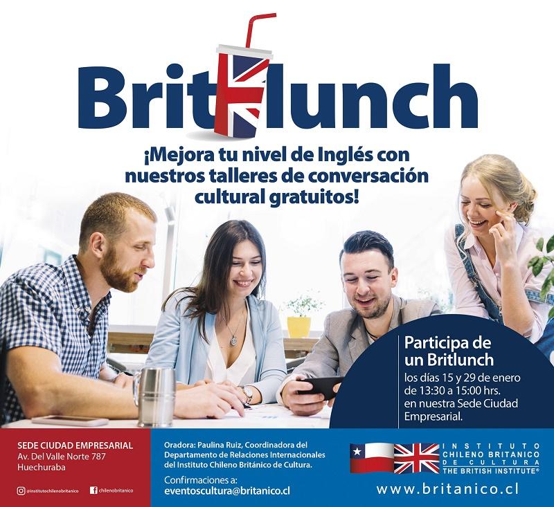 Instituto Chileno Británico de Cultura presentará Britlunch en Ciudad Empresarial
